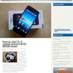 Lenovo A830 - przeglądarka 1