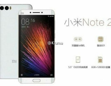 Kolejne doniesienia na temat Xiaomi Mi Note 2